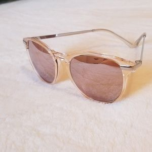 Clear Pink Sunglasses-Like new!